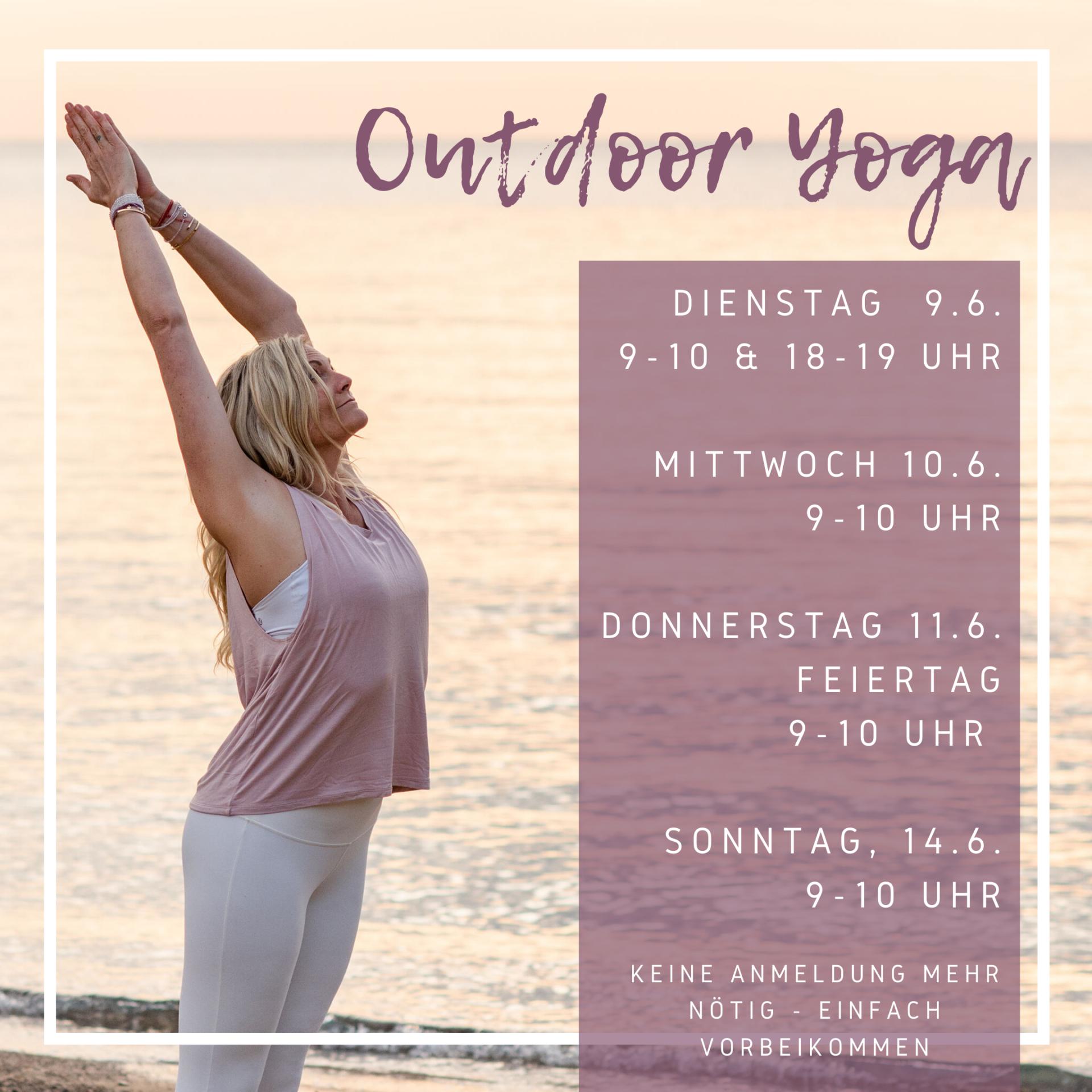 OUTDOOR Yoga der Woche